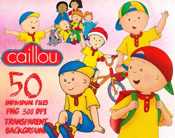 Caillou Clipart -PNG -transparent-300dpi-party-printable