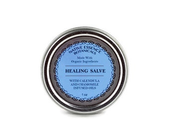 Healing Salve - Healing Balm - Calendula Salve - Comfrey Salve - All Natural Skin Care - Organic Skincare - Herbal Products - Herbal Remedy