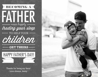 Becoming a Father - Father's Day- Template