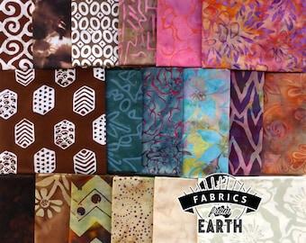 Mocha Bliss Batik 18 Fat Quarter Bundle - Quilting Fabric