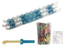 A set rainbow loom, the latest selling rubber bracelets, rubber bands woven bracelet, DIY bracelet,