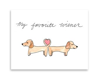 Dachshund Greeting Card / Daschund Gift / Doxie Gift Idea / Blank Card / Funny Dog Card / Misha Marie Art