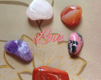 Stone and Crystal Sets-  Love, Divinatory, Travel, Protection MWCSCS001