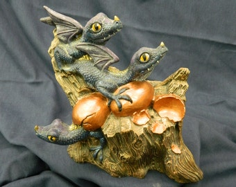 Baby copper dragons