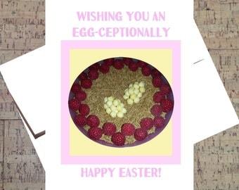 Easter Card, Easter Egg Card, Easter Greetings, Easter Greeting Card, Happy Easter Card, Handmade Easter Card, Cute Easter Card, Cereal