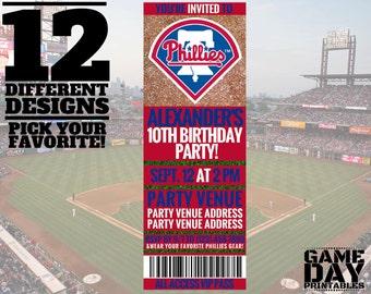 Philadelphia Phillies Birthday Invitation - Printable MLB Invite