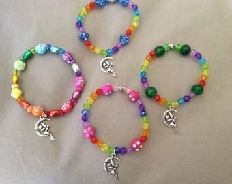 Rainbow Fairy Beaded Bracelets