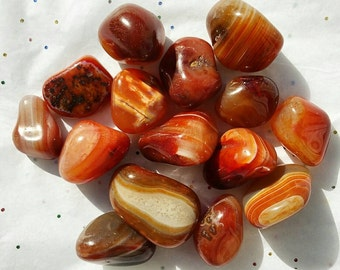 Tumbled AAA Grade CARNELIAN Tumbled Gemstone - Healing Crystals - Metaphysical - Spirituality - Minerals - Crystal Therapy