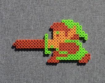 Zelda Perler Bead Sprite - Link