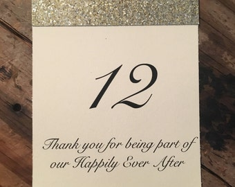 Glitter Table Card Numbers