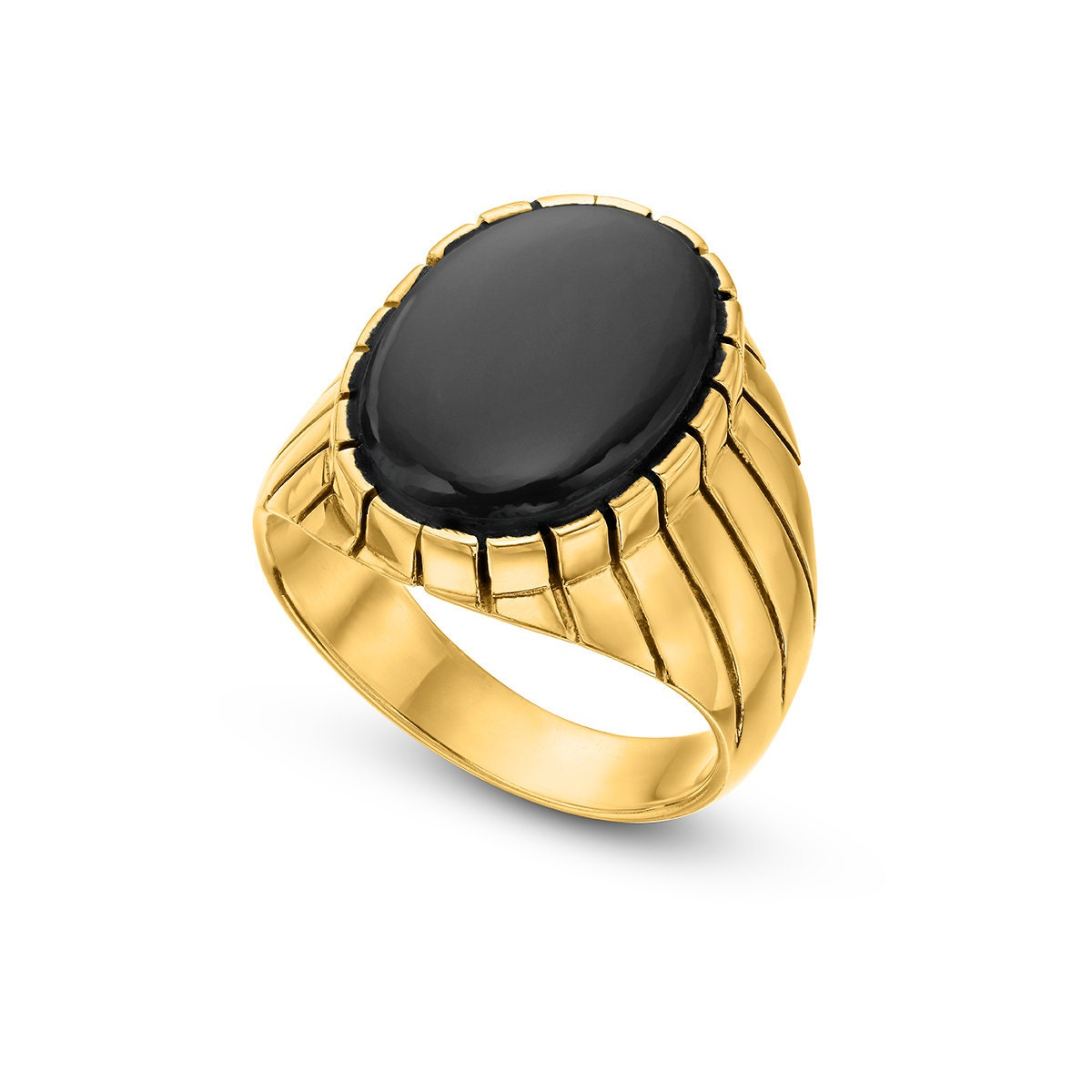 golden volcano 14k gold plated collection black onyx