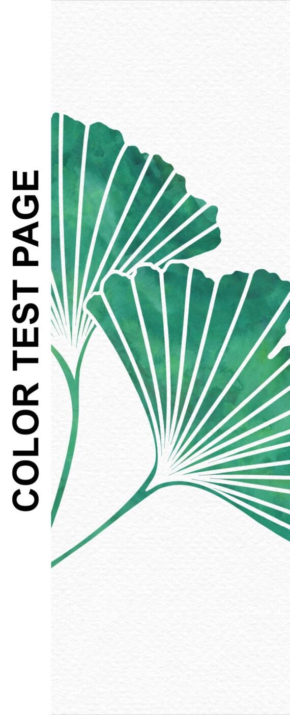 Digital Printable Artwork Ginkgo Leaf Gingko Ginko Print Teal Green Watercolor Botanical Bedroom Decor 8X10 16X20 A4 Sizes