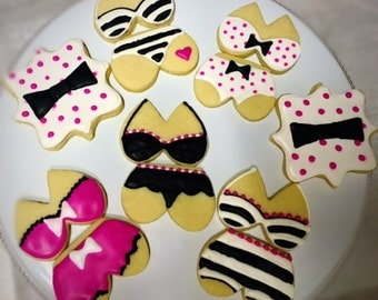Kate Spade Themed Lingerie Cookies