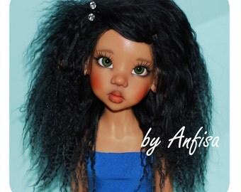 "Tibetan Lambskin Mohair Fur Wig Hair for BJD Doll MSD SD Kaye Wiggs and similar 8""-8,5"" (20-21,5 cm)"