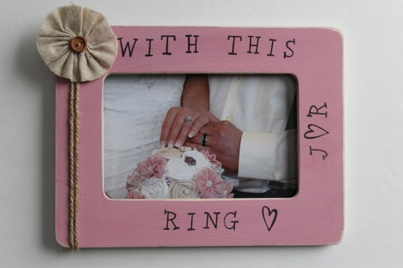wedding picture frame with this ring frame pink photo