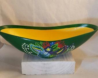 Green and Yellow Tropical Banana Bowl
