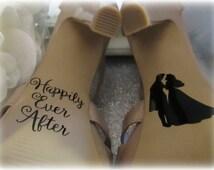 Disney Inspired Bridal Shoe Decal ~ Photography Prop ~ Bride and Groom Wedding Day Decor ation  ~ Princess Aurora Sole Vinyl Sticker