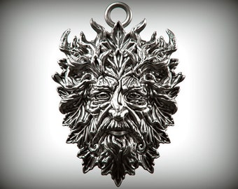 Green Man  Pendant - Silver
