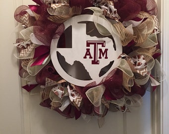 Texas a&m wreath, aggie wreath, Texas wreath