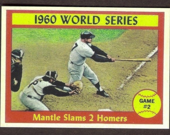 MICKEY MANTLE RP #307 Slams 2 Homers 1960 World Series Game 2 Yankees 1961 T Free Shipping