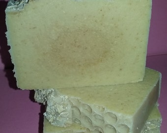 Oatmeal, Milk and Honey Unscented Cold Process Soap