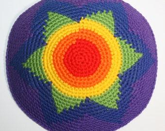 kippah rainbow star