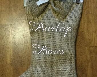 Burlap Stocking