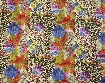 """Pure Cotton Fabric With Floral Printed 42"""" Wide Fabrics Sewing Crafting Dress Making Apparel Material Indian Fabric 1 Yard ZBC4918"""