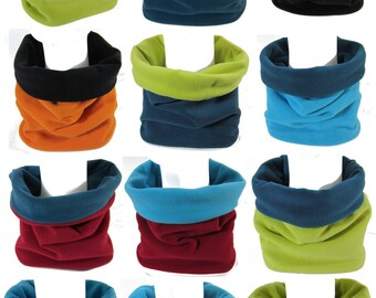 Customizable two-tone polar Snood from 2 A to 10 A Snooki