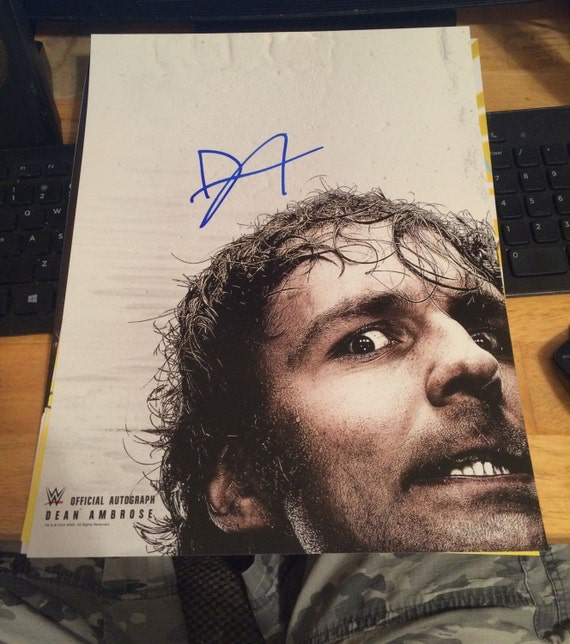 HAND SIGNED Dean Ambrose Official Wwe Poster