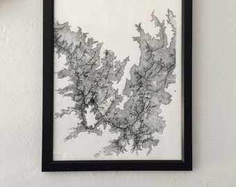 Grand Canyon, Topographical Print, Colorado River Map, Colorado River, Grand Canyon Map, National Park Art, Topography, Topographical Art