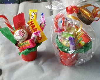 Retro Sweet candy pot buckets, wedding favours, stocking fillers, party bags