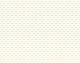 Orange Swiss Dots on Cream Le Creme by Riley Blake Designs - Polka Dot - Quilting Cotton Fabric - by the yard fat quarter half