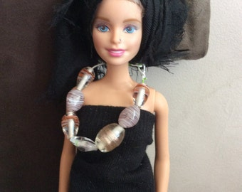 Doll rose pink necklace