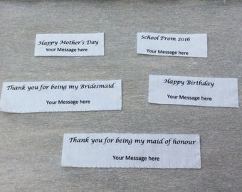 Personalised message label, Personalised label, Personalised bag label, Thank you tags, Thank you messages
