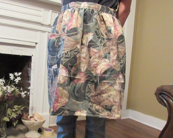 Floral print Apron with pockets
