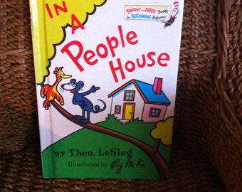 Dr. Seuss, IN A PEOPLE HOUSE Theo. Lesieg Ex++ 1972