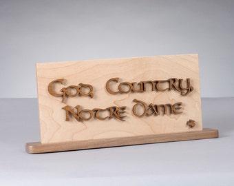 Notre Dame God, Country, Notre Dame Plaque