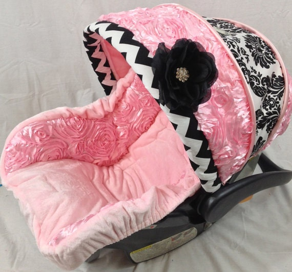 Infant Car Seat Covers 4 Pc Set Pink Custom Car Seat Cover