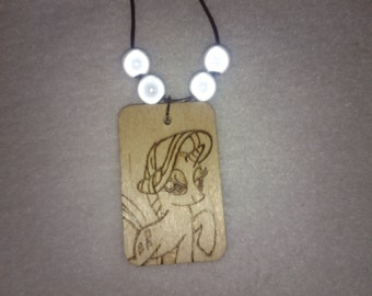 Rarity Pyrography Pendant