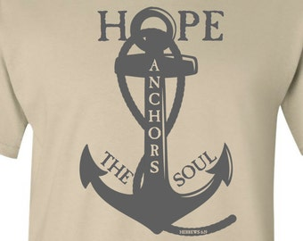 Hope Anchors Bible Verse T-shirt