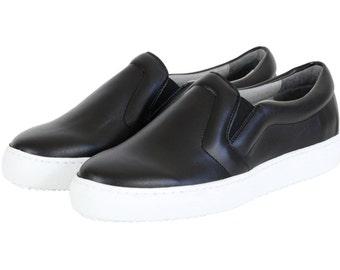 MALKIA BLACK, Vegan Slip-on, Non Leather