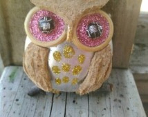 Owl Ornament /Christmas Ornament /Repurposed wine cork and aluminum /Handmade Ornament / Christmas Owl Ornament