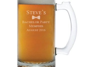 Personalized Beer Mugs, Bachelor Party, Groomsmen Beer Mugs, Engraved Beer Mug, Gift for Groomsmen, Beer Gifts