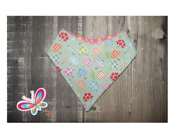bandana reversible with umbrella back pink and orange