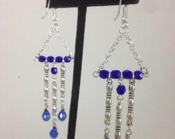 Cobalt Celestial Crystal Earrings