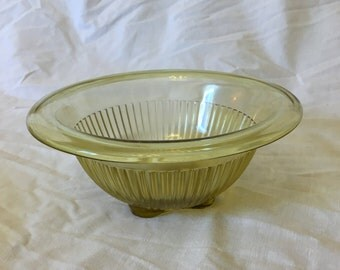 Vintage Amber Glass Small Mixing Bowl