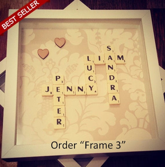 Scrabble Wall Art Scrabble Frame Engagement Gifts For Couple