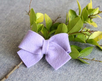 Lavender Felt Hair Bow