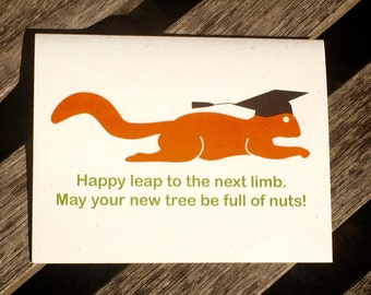 Graduation card - Squirrel graduation card - Squirrel series